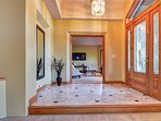 Elegant Entrance  warn sue to Radient Heat  both floors have radiant heat though out home