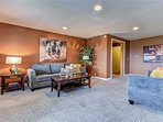 Lover Living Room Can double for more Beds holds 2 queens  exit door to large trex deck court yard