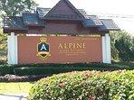 Alpine golf resort