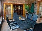 Indoor patio to bar