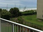 View of the beach from the back porch.