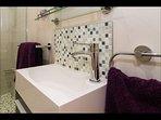 Modern ensuite bathroom to the master bedroom