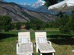 Giardino Vista Monte Bianco - estate