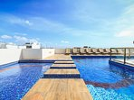 Common pool area with ocean view