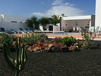 Gardens facing pool