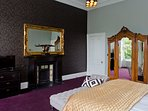 The luxurious master bedroom