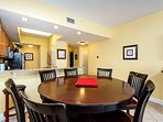 Classic round dining table and 6 chairs is great for family meal
