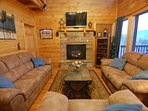 "Den: Gas Fire Place, 40"" TV, 5.1 Surround Sound, WiFi, Free Netflix, DirecTV Hi Def Programming."