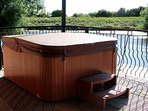 Private Hot Tub with river views