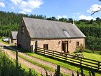 Beautiful location with views across the Usk Valley