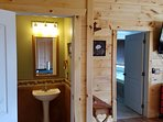 1/2 bath is great for visitors, as no one will need to use the master suite bathrooms.