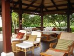 The sala - a Balinese style open area, cooled by gentle breezes
