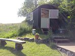 Lowenna (Cornish for happiness), our Shepherd's Hut.