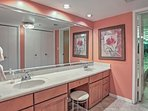 The Master Bathroom has a jetted tub for your ultimate relaxation.