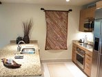 Plenty of space for the chef, kitchen is fully equipped for serious cooking.