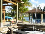 Boat House offers kayaks, paddle boards, and bicycles with resort passes.