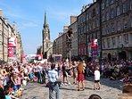 Street performer during the Edinburgh Festival Fringe.