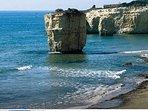 I faraglioni di Ciriga, caratteristica spiaggia a pochi passi dal Residence.