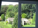 Lakeland Apartment's 2nd Floor master triple bedroom view from bedroom window, Windermere, Cumbria.