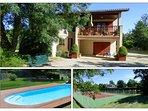 Villa indépendante avec tennis et piscine privés