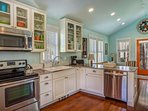 Kitchen with luxury stainless steel appliances