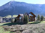 The home is facing Whetstone Mountain and Red Lady Mountain. The backphoto here is Mt. Crested Butte