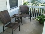 Front Porch. Seating for two. Great for sunsets and private talks.