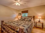 Log Bed in 2nd Bedroom