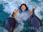 Swimming with the Dolphins at Dolphin Cove, Ocho Rios