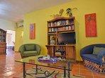 lounge area, flat screen tv, wifi, books