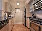 Modern kitchen with all major appliances.