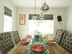 Enjoy your fresh cooked meals in a light-filled dining room!