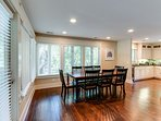 You will love the openness for entertaining with everyone