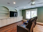 This Media Room off the Living Space is Very Nice!