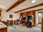 Let's get right to the fun by challenging the kids to a game or two in the lower level game room.
