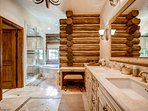 The en suite for Guest Bedroom 2 is equally luxurious to the master bath. No, space is never an issue here.