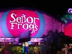 World famous Sr Frogs, located in Cancun´s hotel zone