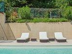 Comfy sun loungers
