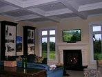 Living room; nice views,  fireplace,  TV, Chromecast, Bose bluetooth sound  bar