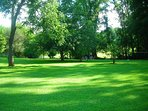 Smooth Manicured Level Grounds. Easy to Navigate for all ages. Perfect for Family Yard Game.
