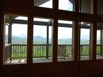 Loft has a catwalk to a private deck with teak rockers to enjoy our breathtaking view of the Smokies