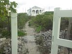 Entrance to the property from the beach