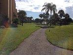 Walking Path behind Condominium Community