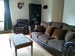 Living room-Sofa is a pull out queen sleeper