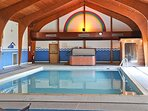 Indoor heated swimming pool with Sauna and Hot Tub. Facilities open 365 days of the year.