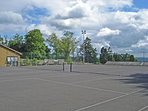 Tennis courts, small football pitch, childrens play area and crazy golf.