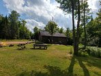 Acreage with outdoor furniture, firepit, patio, charcoal grill