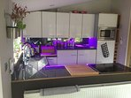 Fitted Kitchen with LED mood lightning