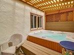 Private Hot Tub Area