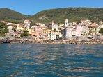 Il borgo di Tellaro visto dal mare....